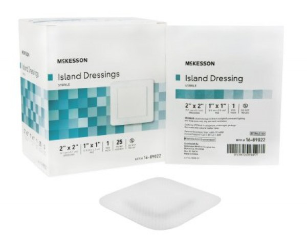 McKesson Rayon Poly Adhesive Island Wound Dressing