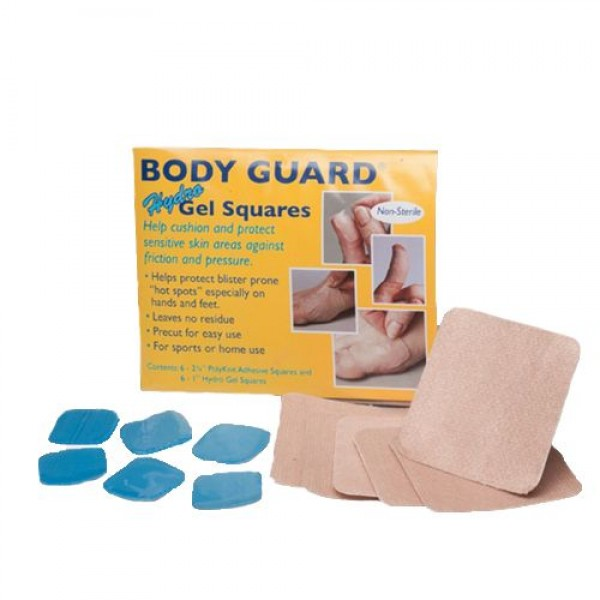 Nearly Me Technologies BODY GUARD Hydro Gel Squares - PolyKnit Adhesive, 1 in., 2-3/8 in. - 1603010