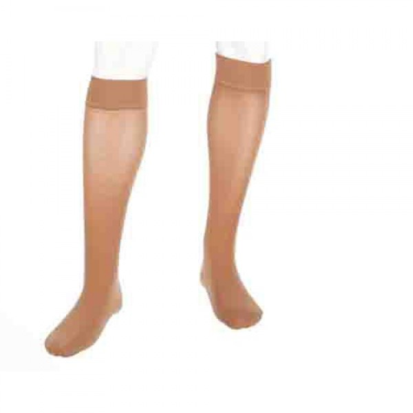 Plus Knee High Compression Stockings Extra Wide Calf w/ Silicone Top Band CLOSED TOE 20-30 mmHg by Mediven