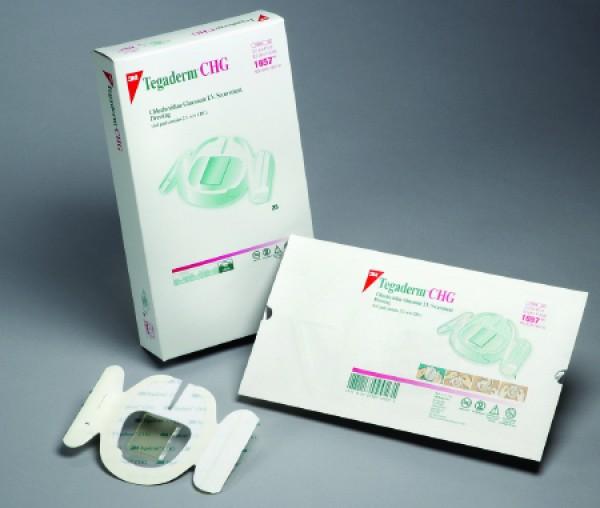 3M Tegaderm CHG Chlorhexidine Gluconate IV Securement Dressing 1657 | 3-1/2 x 4-1/2