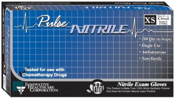 Innovative Disposables Pulse Nitrile Exam Gloves Powder Free - NonSterile