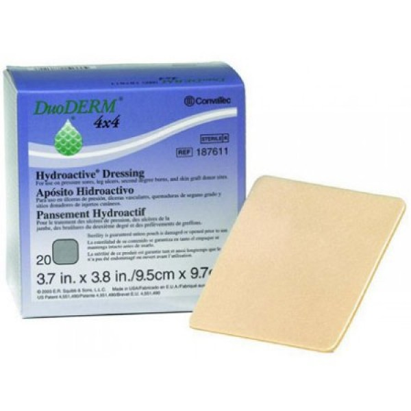 ConvaTec DuoDERM Hydroactive Dressing 187611 | Square 4 x 4 Inch by Convatec