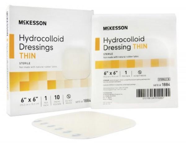 McKesson Hydrocolloid Dressing 6 x 6 Inch - Sterile