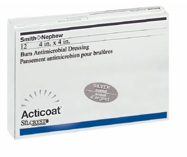 Smith & Nephew Acticoat Silver-Coated Antimicrobial Barrier Dressings