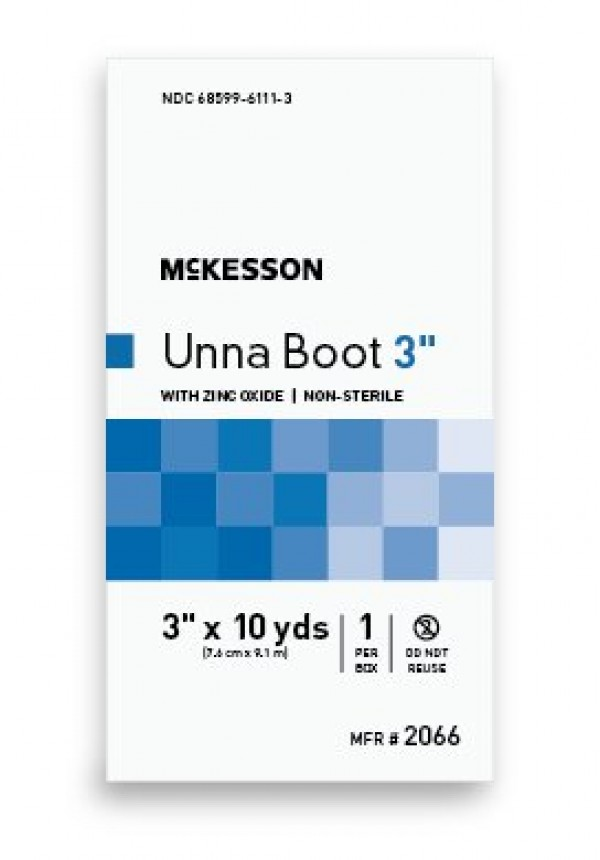 McKesson Cotton Unna Boot with Zinc Oxide 3 Inch x 10 Yard - Non-Sterile