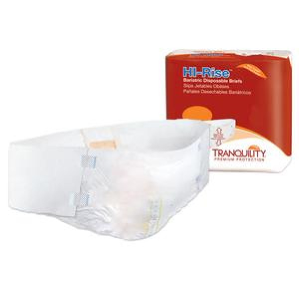 Tranquility Principle Business Tranquility HI-Rise Bariatric Briefs 3X-Large Super Absorbency