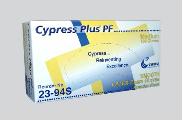 Plus Latex Exam Gloves Powder Free - NonSterile by Cypress