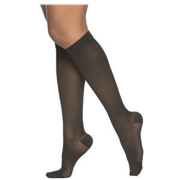 230 Cotton Series Unisex Knee High Compression Socks - 232C OPEN TOE 20-30 mmHg by Sigvaris