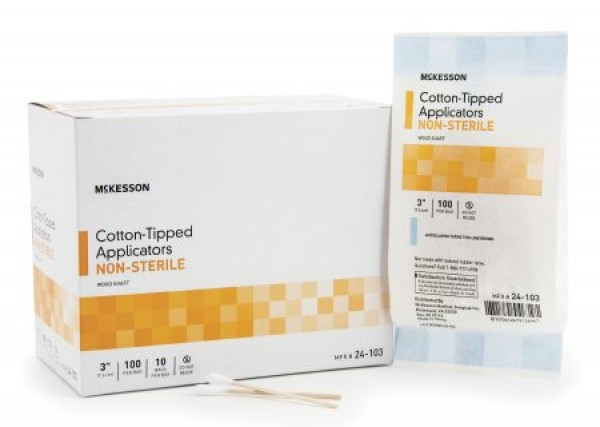 Cotton Tipped Applicators, Nonsterile by McKesson