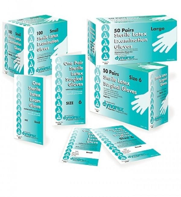 Dynarex Latex Exam Gloves Powdered - Sterile