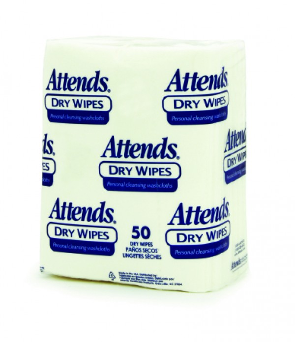 Attends Healthcare Products Attends Dry Wipes - Unscented