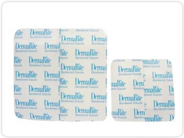 Dermarite Industries Dermarite Bordered Gauze Dressing with Adhesive Border