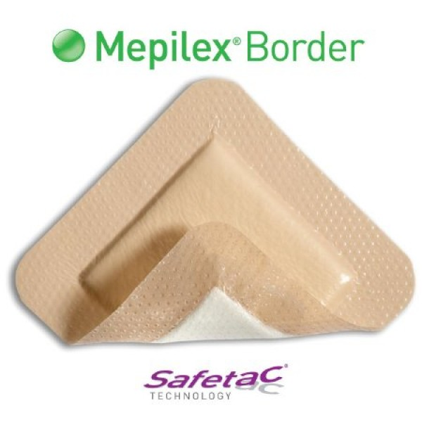 Molnlycke Mepilex Border Heel Self Adherent Border Foam Dressing