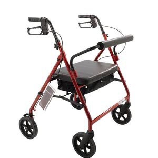 Roscoe Medical Bariatric Rollator with Padded Seat by Roscoe