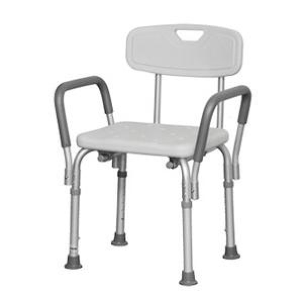 Professional Medical Imports Bath Bench with Back and Arms by PMI