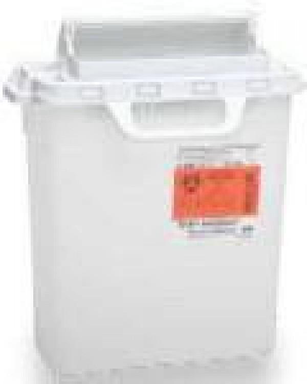 BD Becton Dickinson 3 Gallon Pearl RecyKleen Sharps Collector with Counterbalanced Door 305053