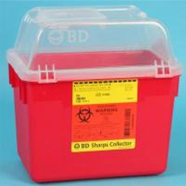 BD Becton Dickinson 8 Quart Red BD Sharps Container 305344