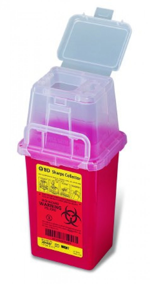 BD Becton Dickinson 1.5 Quart Red BD Stackable Sharps Container with Dual Access 305487