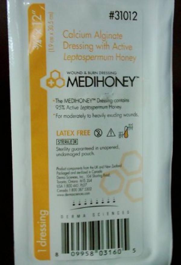 Derma Sciences MediHoney Calcium Alginate Wound Care Dressing / Rope