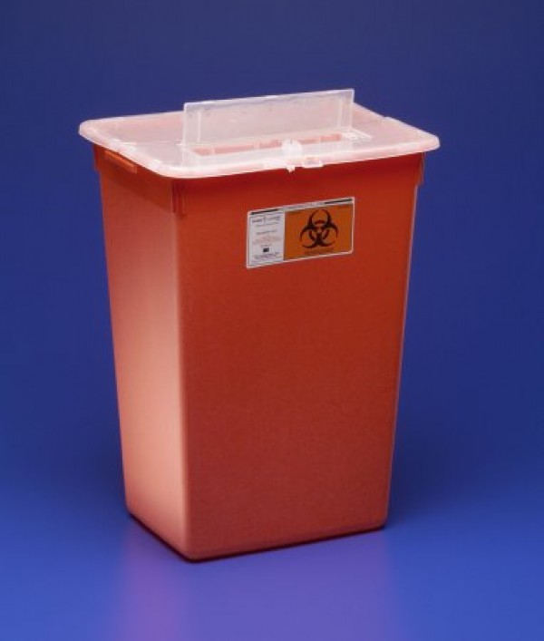 Covidien 10 Gallon Red Sharps-A-Gator Sharps Container with Slide Lid 31143665