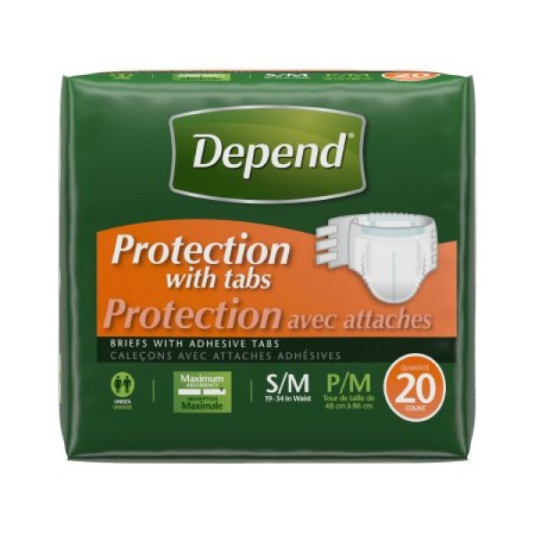 Kimberly Clark Depend Protection Briefs Heavy Absorbency