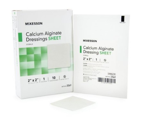McKesson Calcium Alginate Dressing 3561 - 2 x 2 Inch - Sterile