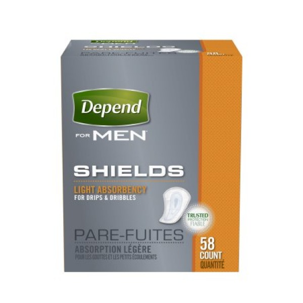 Kimberly Clark Depend Shields for Men