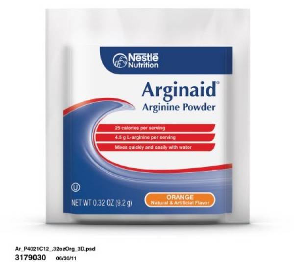 Nestle ARGINAID® Arginine Powder Nutrition for Burns or Chronic Wounds