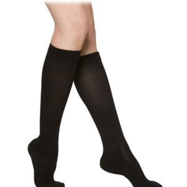 360 Cushioned Cotton Women's Knee High Compression Socks - 362C CLOSED TOE 20-30 mmHg by Sigvaris