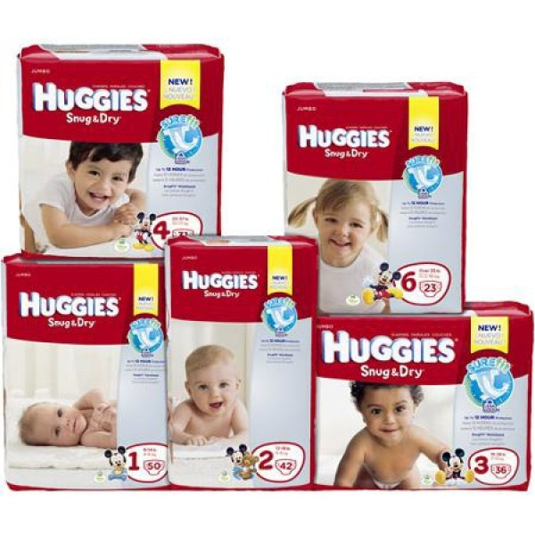 Kimberly Clark Huggies Snug & Dry Disposable Diapers