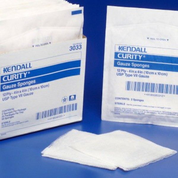 Covidien Curity 4 x 4 Inch Gauze Sponge 2 Ply, Sterile - 397110