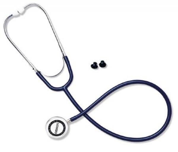 Omron Lightweight Dual Head Stethoscope Black - 412BLK