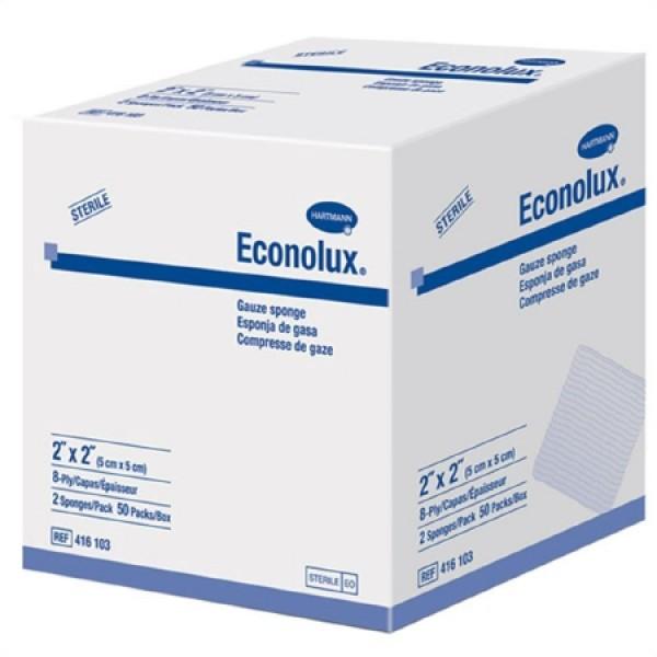 Hartmann USA Econolux 4 x 4 Inch Gauze Sponge 8 Ply Sterile - 416104