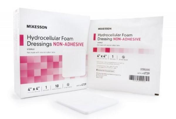 McKesson Mckesson 4739 Non-Adhesive Foam Dressing 4 x 4 Inch - Sterile