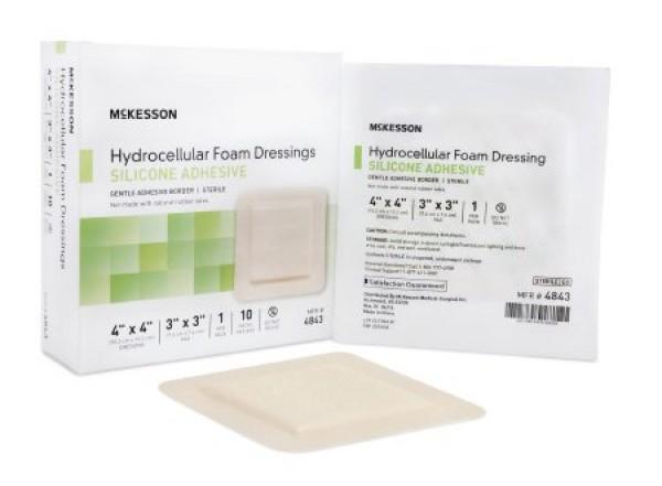 McKesson Adhesive Foam Dressing 6 x 6 Inch - Sterile