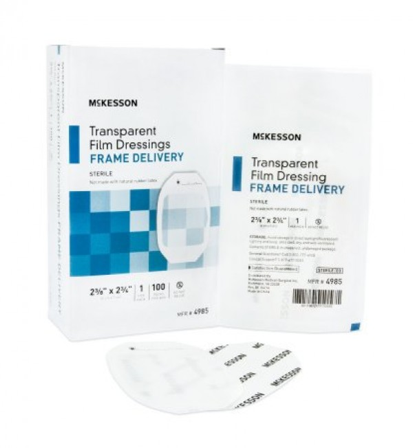McKesson Framed Transparent Film Dressing 2-3/8 x 2-3/4 Inch - Sterile