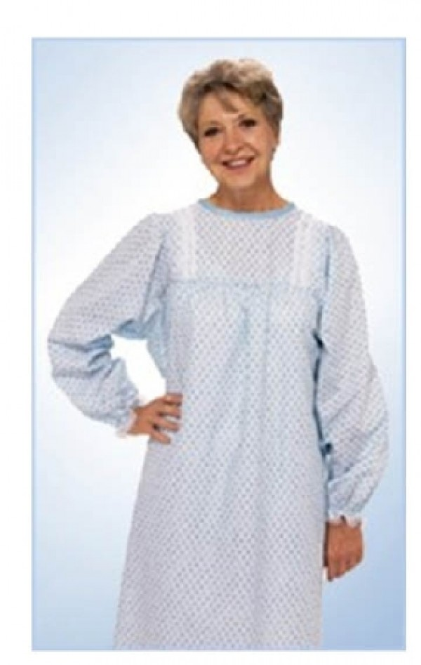 Salk TieBack Traditional Hospital Style Patient Gown