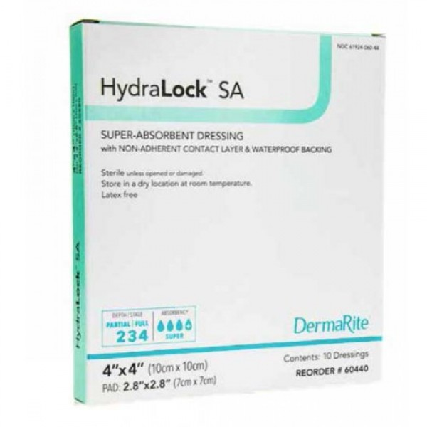 Dermarite Industries HydraLock SA Super-Absorbent Dressing
