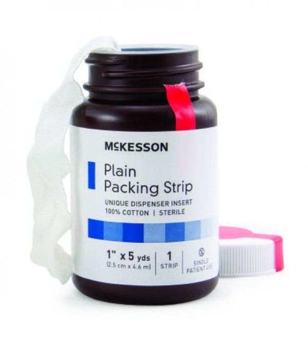 1 in x 5 yds Plain Packing Strips, Sterile - 61-59320 by McKesson