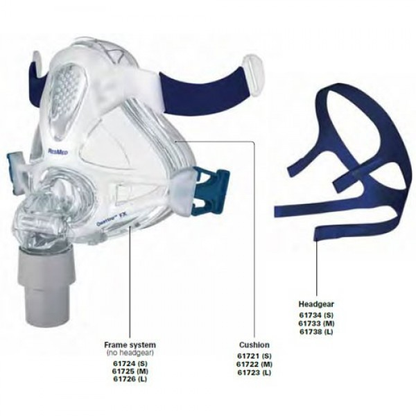 ResMed Quattro FX™ Full Face Mask Accessories & Replacement Parts
