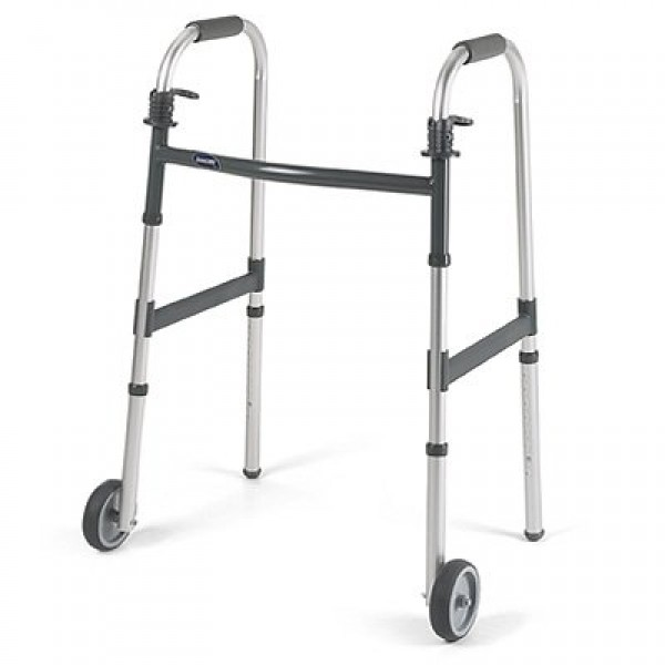 Dual Release Walker with 5 inch Fixed Wheels by Invacare