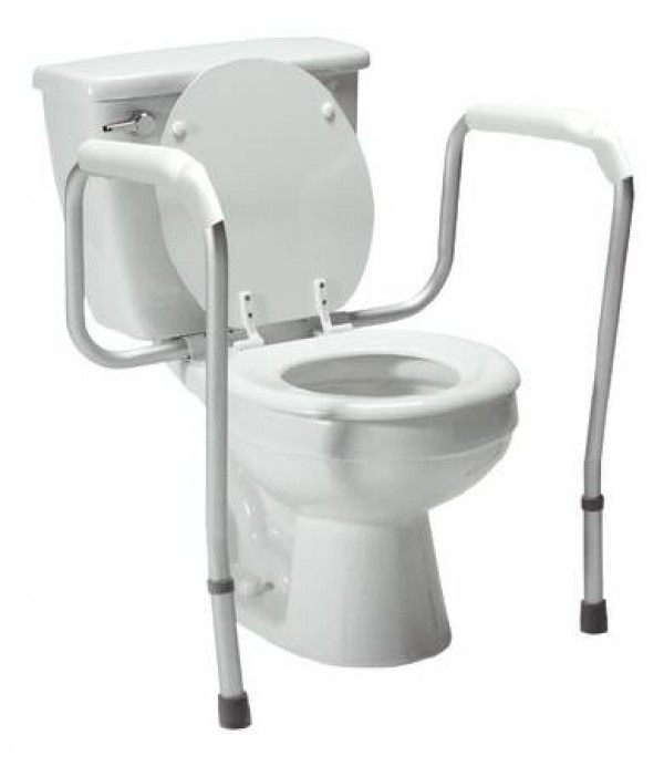 Graham-Field Lumex Versaframe Toilet Safety Rail, Adjustable Height
