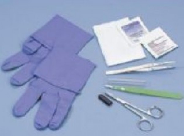 Busse Hospital Disposables Sharp Debridement Tray