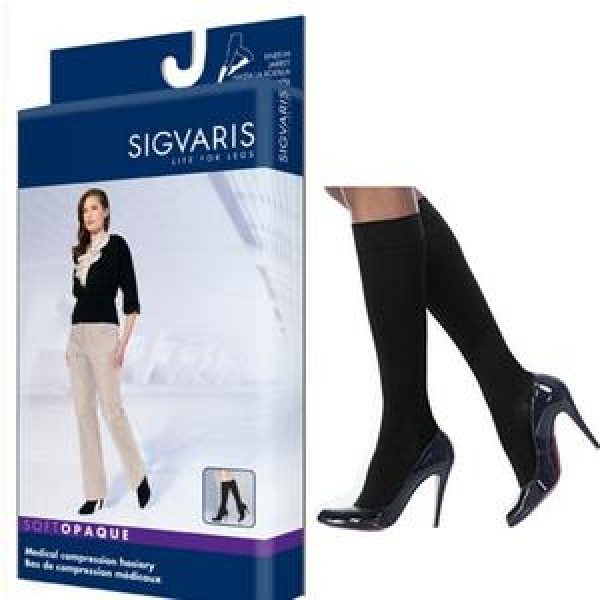 842C Soft Opaque Knee High Compression Socks CLOSED TOE 20-30 mmHg by Sigvaris