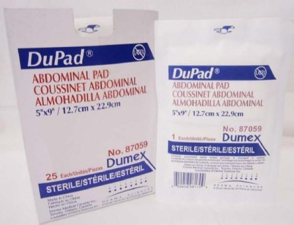 McKesson DuPad Abdominal Pads Hydrophobic Moisture Barrier - Sterile