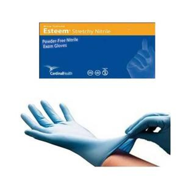 CardinalHealth Esteem Stretchy Nitrile Exam Gloves Powder Free - NonSterile