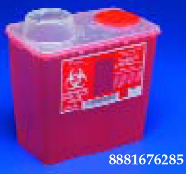 Covidien 8 Quart Red Sharps-a-Gator Sharps Container with Chimney Top 8881676236