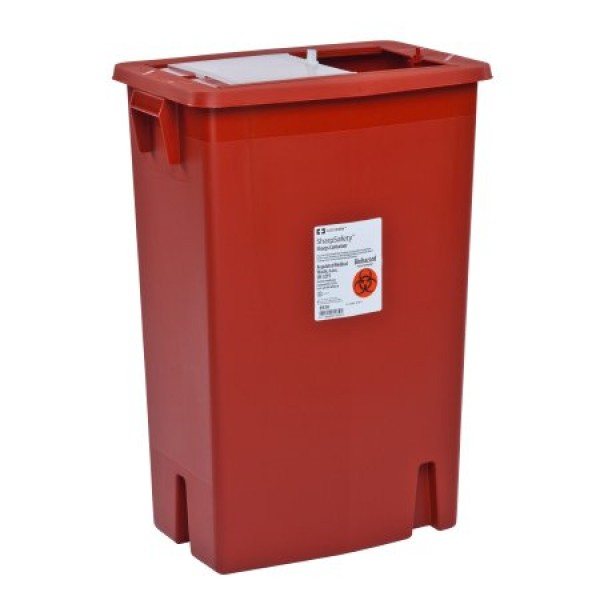 Covidien 12 Gallon Red Multi-Purpose Sharps Container with Slide Lid 8935