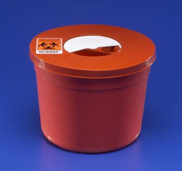 Covidien 5 Quart Red Multi-Purpose Sharps Container Round Design 8950SA