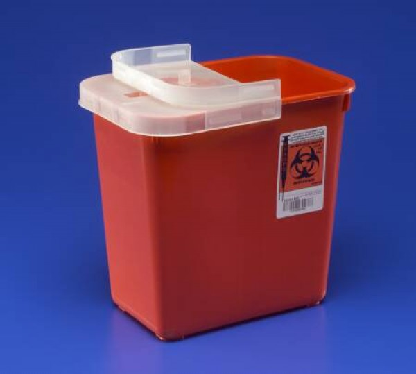 Covidien 2 Gallon Red SharpSafety Sharps Container for Phlebotomy 8990SA